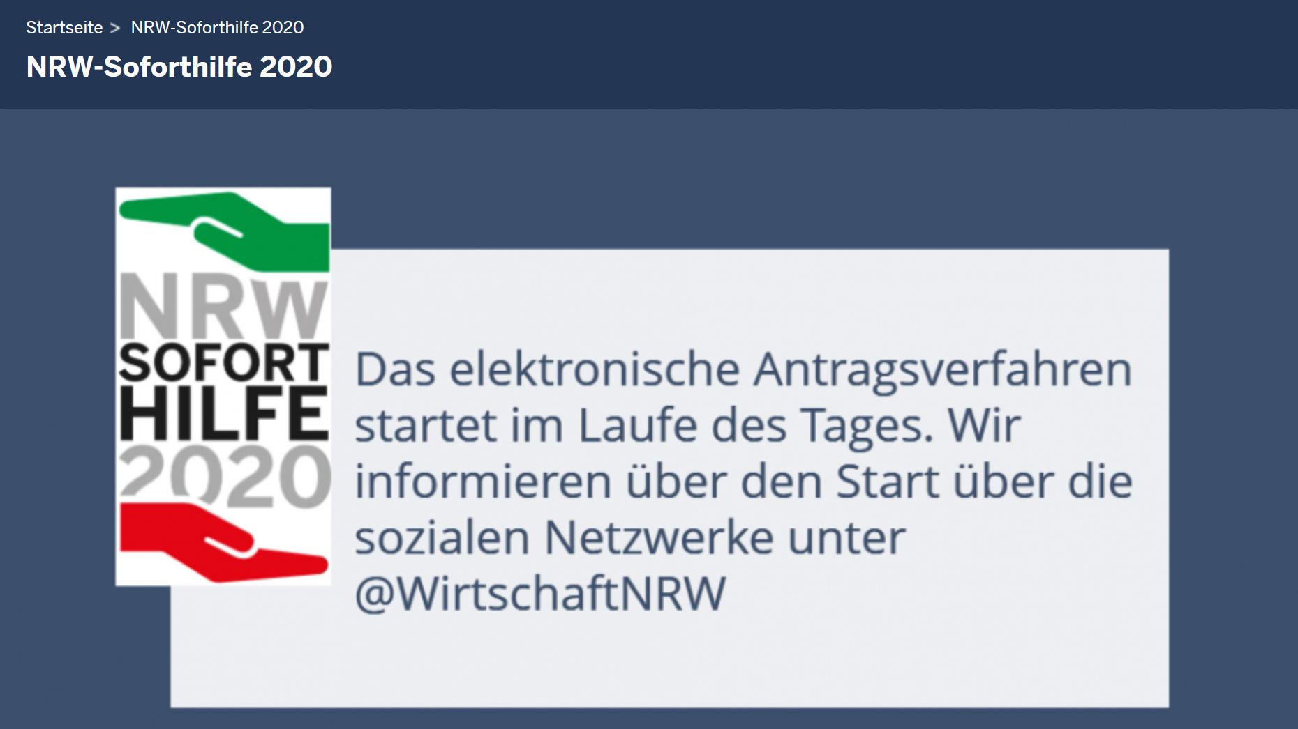 NRW Soforthilfe